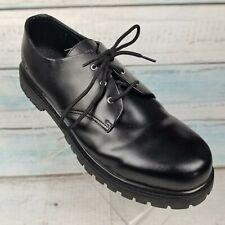 Skechers Men 6626EWS Black Leather Slip Resistant Casual Oxford Work Shoes Sz 15