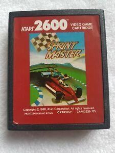SPRINT MASTER Atari 2600 Game cart only