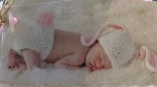Mud Pie Bunny Photography Set Newborn Crochet Hat & Bloomer Set 1592053 NWT