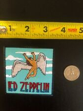 Led Zeppelin Aqua Blue Embroidered Patch Robert Plant Jimmy Page Rush