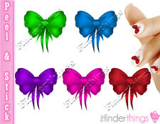 Colorful Beautiful Bow Nail Decal Stickers BOW901