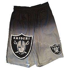 NFL Mens Gradient Big Logo Training Shorts Oakland Raiders