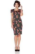 Square Neck Midi Spotted Dresses for Women