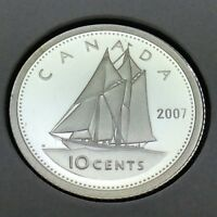 2007 Canada Proof Sterling 10 Ten Cents Dime Canadian Uncirculated Coin E232