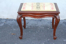 Fabulous 19th Century Fernch Louis Xv Style Walnut Piano Vanity Bench Stool