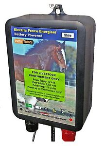 TRACTOR FACTORY SHIRE ELECTRIC FENCE ENERGISER 12V BATTERY 0.6J 6 months Wrty