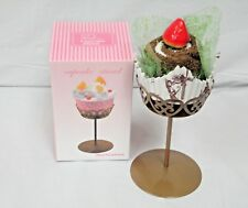 Charmed Single Cupcake Cake Holder Stand (GOLD); SET OF 2 PIECES; YZ1812