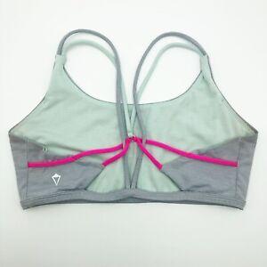 Ivivva Lululemon Sports Bra Size 14 Girls Youth Gray Yoga Running Fitness