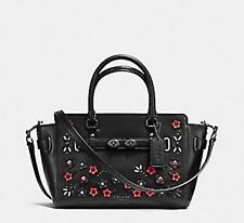 Paypal Coach Bag F59450 Blake Carryall with Floral Applique Black Agsbeagle