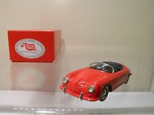 RECORD FRANCE PORSCHE 356A SPEEDSTER 1956 RED RESIN BUILT KIT SCALE 1:43
