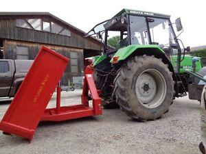 Hydraulische Traktormulde, Kippmulde 200 x 120 cm, doppelt wirkender Hubzylinder