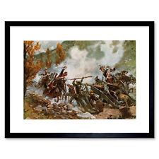 Painting Military Kossak Battle Somosierra Framed Art Print 12x16 Inch