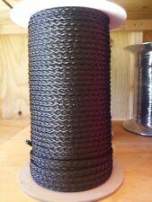 "5/16"" x 400 ft. spool of 8 strand Hollow Braid Polypropylene Rope.Black."