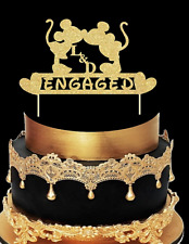 Wedding /birthday/ engagment/cake topper mickey and minnie mouse custom made