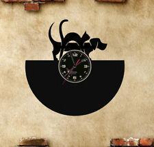 Orologio disco vinil clock orologio da parete cane gatoo