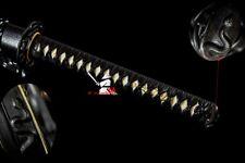CLAY TEMPERED T-10 FOLDED STEEL JAPANESE KATANA SNAKE TSUBA BATTLE READY SWORD