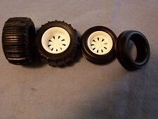 Rubber Sand Dune Tires Front and Rear with Wheels 1/24 1/25 scale