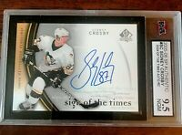 2005/06 SP AUTHENTIC SIDNEY CROSBY AUTO SIGNED ROOKIE CARD KSA 9.5 GEM