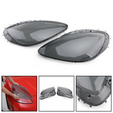 Headlight Replacement Lens Driver Passenger L+R PAIR Smoke For 05-13 C6 Corvette
