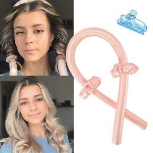 Heatless Curling Rod Headband No Heat Curls Ribbon Hair Rollers Sleeping Soft He