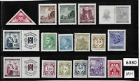 Mixed MH stamp group / Adolph Hitler / Third Reich Germany Occupation WWII