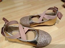Mothercare Girls Pink And Gold Shoes 4