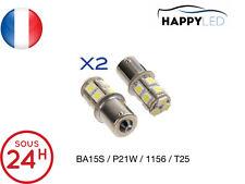 2 X AMPOULES 13 LED SMD - BA15S / P21W / 1156 / T25 - BLANC ®