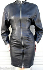 NORTH BEACH BLACK LEATHER  SCUBA DRESS  - EXTREMELY SOFT