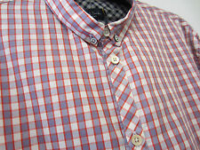 "Paul Smith CHECK SHIRT TAILORED FIT Size L Pit to Pit 21.5"" RRP £100"