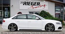 Rieger Seitenschweller mit Schacht und Ausschnitt für Audi A4 B8 Limousine/Avant