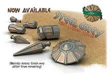PolyHero Dice: Warrior Set - Steel Grey with Molten Copper