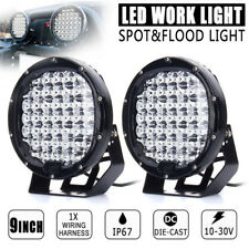 "9"" 225W Round LED Work Light Spot Flood Driving Lamp Headlight Offroad Truck SE"