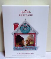Brand New! Hallmark Keepsake Ornament, Our First Christmas, Photo Holder.
