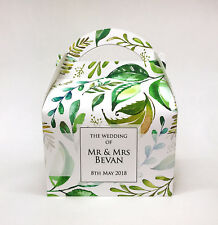 Personalised Leaves Nature Floral Wedding Party Favour Gift Box 1ST CLASS POST!