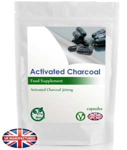 High Potency Activated Charcoal Capsules 300mg - Indigestion, Bloating - UK (V)