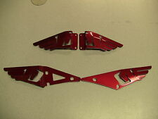 BUELL 1125 1125CR   RED    HEEL GUARDS 2002-2013   FULL  SET (FRONT AND BACK)
