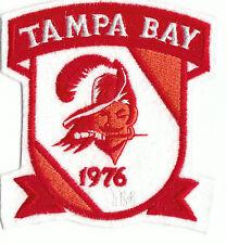 """Vintage NFL Tampa Bay Buccaneers est. 1976 4 1/2"""" Crest Patch Throwback Old Logo"""