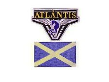 Stargate Atlantis 2 ecussons brodés equipe Ecosse Atlantis Team Scotland patches