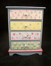Painted Tall Dresser EWDP2146 Fashion Doll dollhouse furniture 1/6 & 1/8 Scale