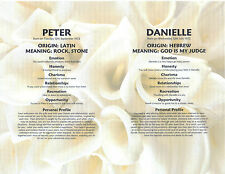 DOUBLE NAME MEANING PRINT Personalised Romantic Valentine's Day Anniversary Gift