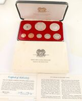 .1977 PAPUA NEW GUINEA PROOF SET, ORIGINAL BOX & COA. ISSUED BY FRANKLIN MINT.
