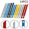 14Pcs U Fitting Jigsaws Blades Kit Metal Plastic Wood Jig Saw For Black & Decker