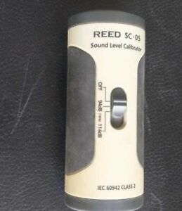 Reed Sc-05 Sound Level Calibrator used