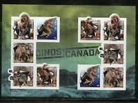 CANADA DINOSAURS SELD ADHESIVE BOOKLET CONATINING 10 NOB-DENOMINATED STAMPS MINT
