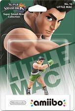 Nintendo Amiibo Little Mac Character Figure Super Smash Bros Wii U 3DS Brand New
