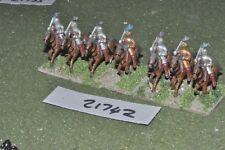 25 mm Renaissance/allemand-lourd 7 figurines cavalerie-CAV (21742)
