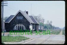 Original Slide, PC Penn Central Lawton MI Michigan Station Depot, 1972