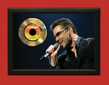 George Michael 2 Poster Art Wood Framed 45 Gold Record Display C3