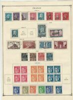 france 1926 - 1939  mounted mint and used stamps ref r8541