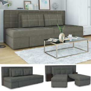 VICCO Schlafsofa mit Bettfunktion 235x105 cm Taschenfederkern Couch Schlafcouch
